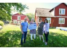 Utdelning av Tillgänglighetsstipendiet 2018 vid lägergården Hallaskog
