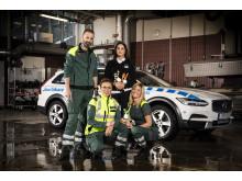 Glada ambulansförare inför blåljusgalan