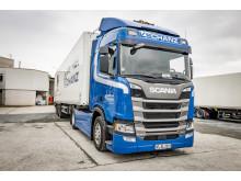 Scania R 450 Hybrid der Spedition Schanz