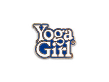 Yoga Girl blue logo pin