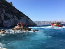 Sjöräddningssällskapet undsätter nödställda utanför Samos