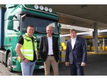 Lkw-Fahrer Ronny Wilde, Axel Kröger, Zippel, Stefan Ziegert, Scania