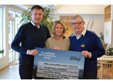 Gåva till Insamlingsstiftelsen Mellannorrlands Hospice.