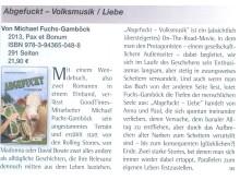Buchbesprechung in der GoodTimes-Ausgabe Heft 5/2013 Abgefuckt – Volksmusik / Liebe Von Michael Fuchs-Gamböck