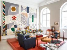 """En miljö i utställningen """"Josef Frank's world of prints"""""""