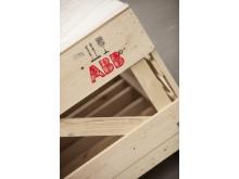 Emballage producerat i Krylbo för ABB