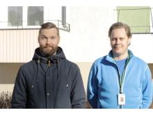 Kim Karlsson, försäljningschef Pipemodul Sverige och Johny Olsson, platschef Våtrumsteknik AB