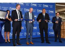 Посланика на Дания Сьорен Якобсен, Ян Бо, Бойко Борисов (министър-председател) и Емил Караниколов (министър на икономиката)