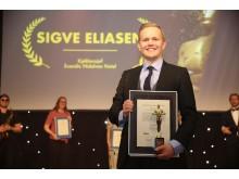 Kjøkkensjef ved Scandic Nidelven, Sigve Eliasen, kåret til Årets unge leder