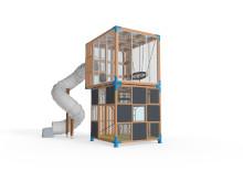 Cubic från Lappset - en lekplats som byggs på höjden
