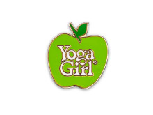 Yoga Girl Green apple logo pin