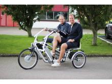 80 mil på side-by-side-cykel - Funktionshinderbanan