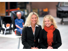 Jessika Andréasson, Product Manager (left) and Helena Larsson, are Design Engineers for Volvo Cars news child restraint programme.