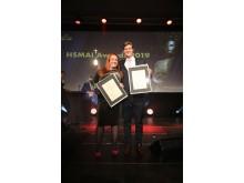 F.v.: Årets unge hotelier og Årets unge leder. Foto: Camilla Bergan