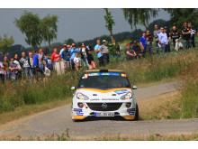 Dream team: Bergkvist och Opel ADAM R2 blev Europamästare.