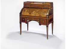 David Roentgen: A German Louis XVI gilt bronze bureau