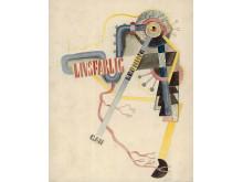 """Gösta Adrian-Nilsson, akvarell, """"Livsfarlig"""", 1922."""