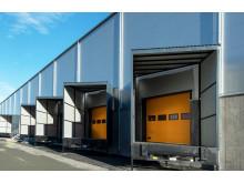 Lasthus så långt ögat kan se längs Continental Däcks nya anläggning i Viared, Borås som Logistic Contractor uppför.