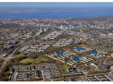 Flygbild, Dalhem, Riksbyggen