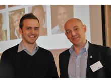 Mattias Tyrberg, Årets Unga Entreprenör södra Sverige & Niclas Carlsson, Founders Alliance