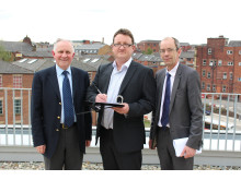 Cllr Ashley Dearnley, Cllr Andy Kelly and Cllr Colin Lambert sign the election pledge.