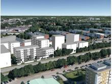 HP Boendeutveckling, skissbild bostadsrätter