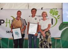 Anlægsgartner, havedesigner Hannu Sarenström og direktør Charlotte Garby