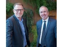 Ulf Börjel (t v) och Mats Lundqvist (t h), nya på Fujitsu