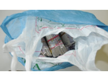 Op Incuse cash seized by HMRC in bags from Tompa