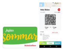 Sommarbiljett på kort och i appen