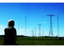 Grimeton Radiostation - Radiomaster med pige