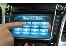 Integrering smarttelefon og Hyundai via MirrorLink