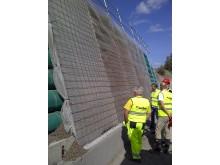 """Her er det nye konseptet """"lightweight tube wall"""" under oppføring på et testprosjekt"""