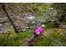 Cykling längs Ljusnan