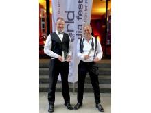 Både guld och silver fick Uppsalafilmarna Andreas Norin och Sverker Johansson ta emot vid World Media Festival i Hamburg.