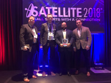 Hi-res image - Cobham SATCOM - Globalsat  Group and partners Cobham SATCOM receive the Top Land Mobility Satcom Innovation Award from the MSUA at Satellite 2018