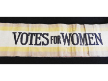 A Votes for Woman Sash