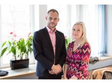 Lars Backström och infrastrukturminister Anna Johansson