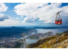 Ulriksbanen med Bergen i baggrunden