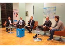 Die Talkrunde des 42. Barmenia-Fairplay-Pokal: Stefan Langerfeld, Andreas Mucke, Carsten Kulawik, Dr. Andreas Eurich und Maximilian Ceiler