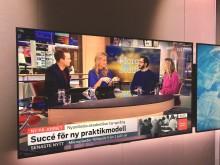 Morgonstudion SVT 2018-02-01 Swedaviamedarbetaren Issam Keseby och Alexandra Ridderstad från Jobbsprånget. Foto Hans Uhrus