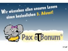 Die Winde wehen um das Haus… Grüße zum dritten Advent.Pax et Bonum
