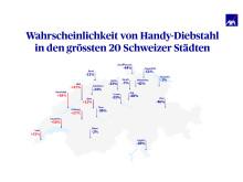Handy-Diebstahl Schweizer Städte