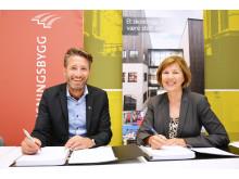 Kontraktsignering Ruseløkka skole, med Veidekke