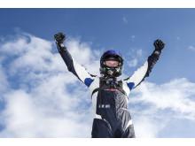 En himmelsk känsla! Johan Kristoffersson vände underläge till seger i STCC-avslutningen.