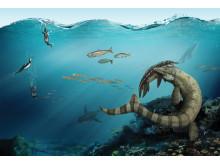 Geologins dag - Prognathodon fångar Plesiosarie