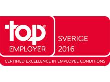 DHL Express Sverige har utsetts till Top Employer 2016