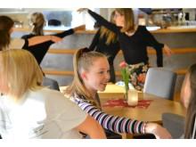 Tilda Samuelsson vid Estetprogrammet på Alströmergymnasiet.