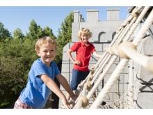 Klettern an der Ritterburg im PLAYMOBIL-FunPark