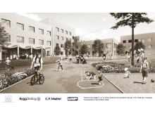 Illustration över nya Tiundaskolan, Uppsala